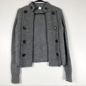 Gray Oversized Wool Blend Cardigan Size XS